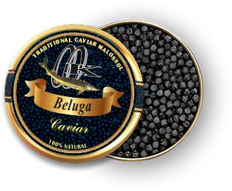 Caviar de béluga noir
