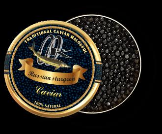 Schwarzer Kaviar des russischen Störs