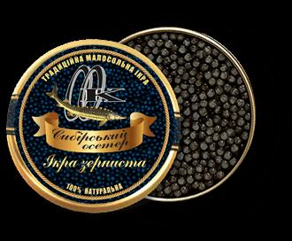 чорна ікра сибірського осетра